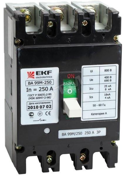 Автоматический выключатель ВА – 99М 250/ 250 EKF