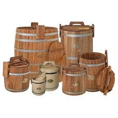 Бочки и бадьи деревянные