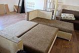 Угловой коричневый диван 250см-200см, фото 2