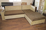 Угловой коричневый диван 250см-200см, фото 3