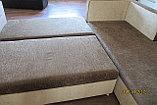 Угловой коричневый диван 250см-200см, фото 5