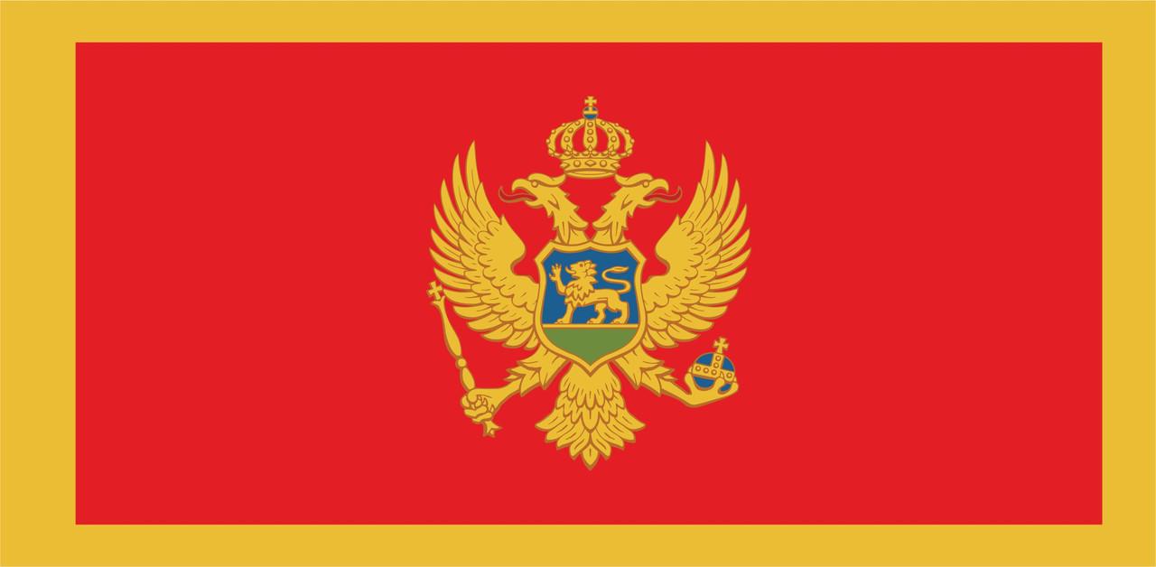 Флаг Черногории размер 1 х 2 метра.