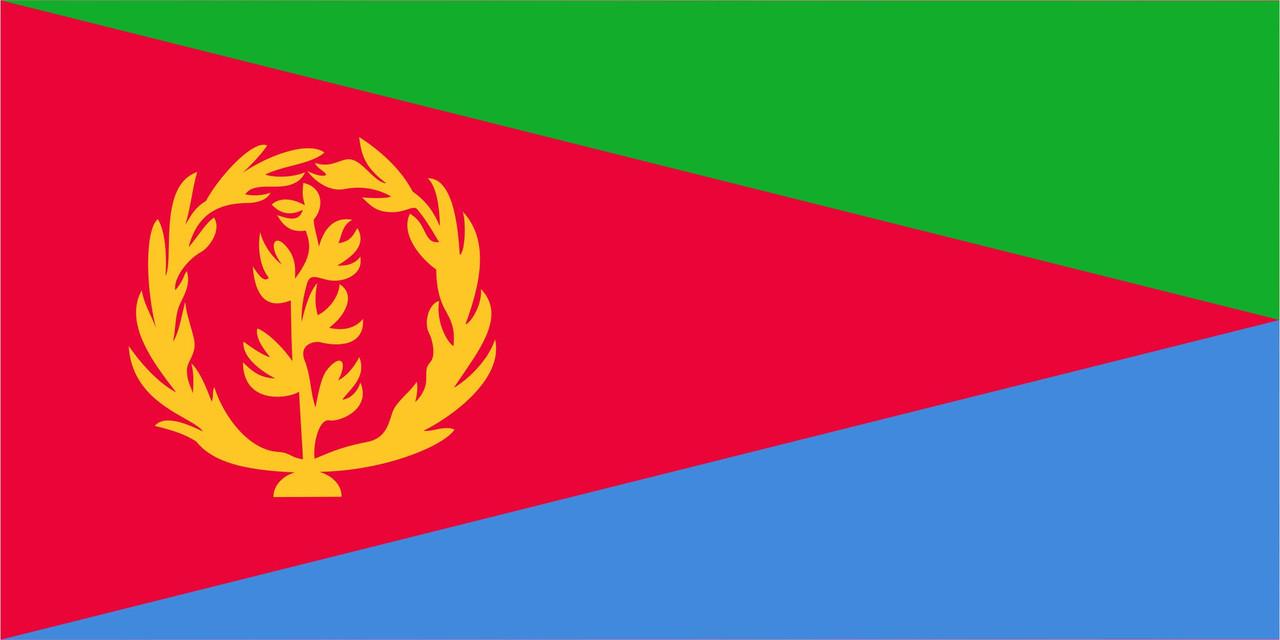 Флаг Эритреи размер 1 х 2 метра.