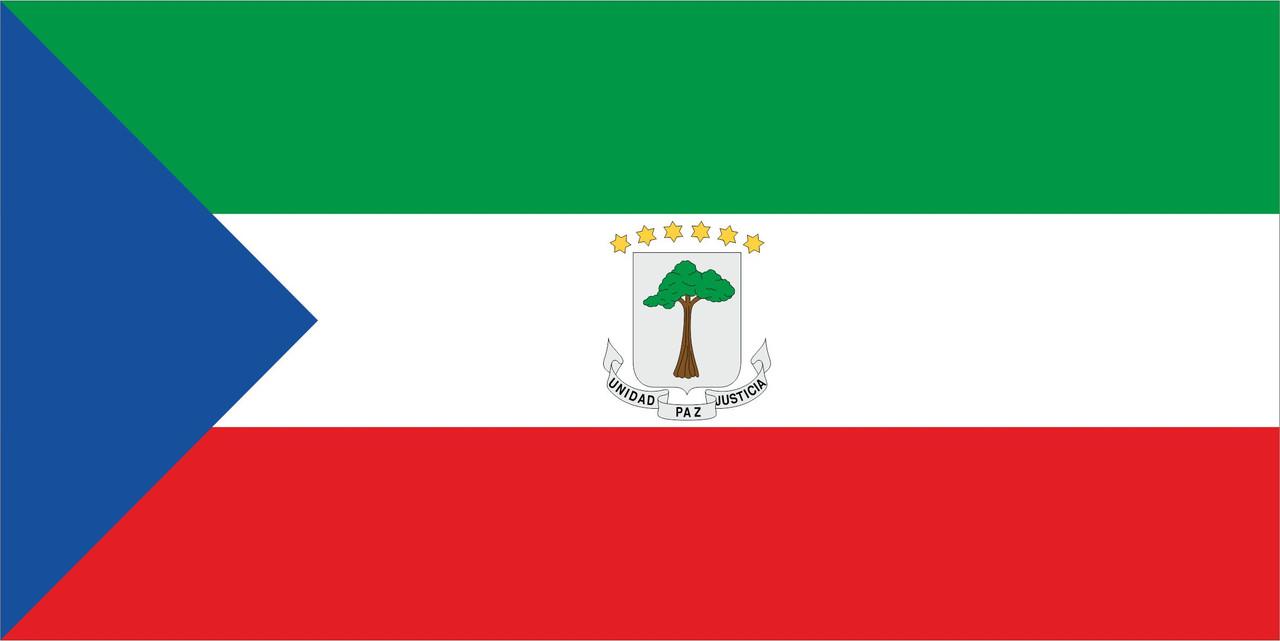 Флаг Экваториальной Гвинеи размер 1 х 2 метра.
