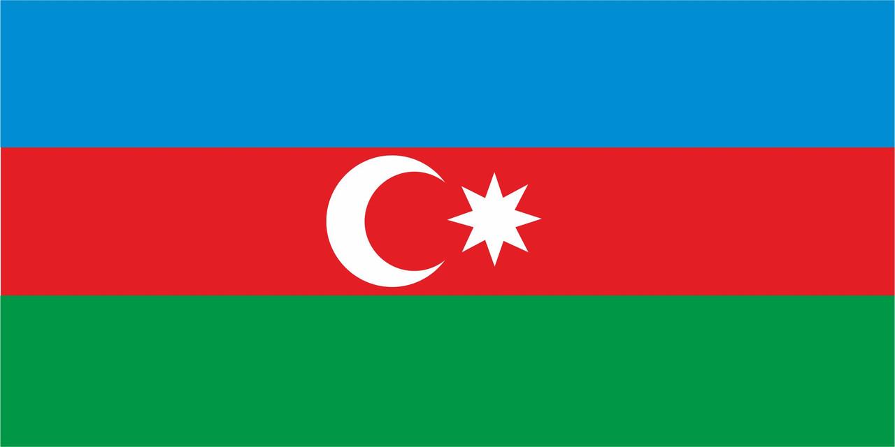Флаг Азербайджана размер 1 х 2 метра.