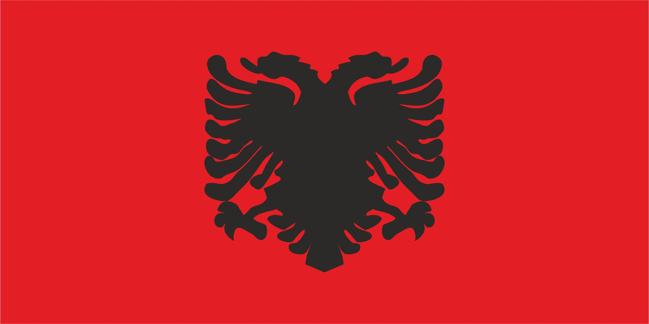 Флаг Албании размер 1 х 2 метра.
