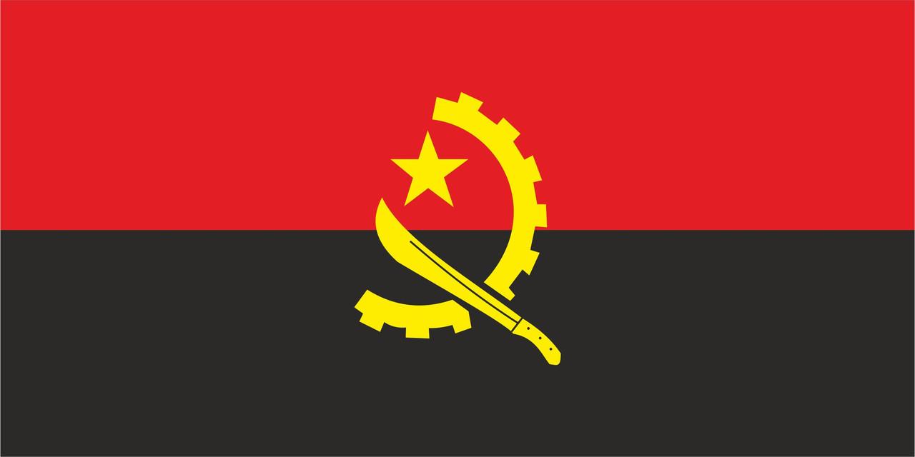 Флаг Анголы размер 1 х 2 метра.