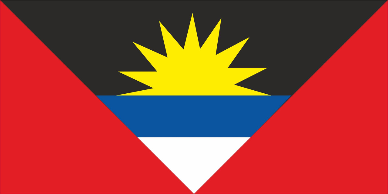 Флаг Антигуа и Барбуда размер 1 х 2 метра.