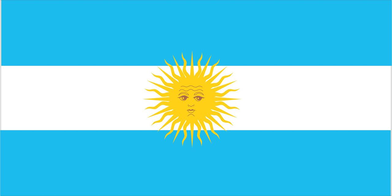 Флаг Аргентины размер 1 х 2 метра.