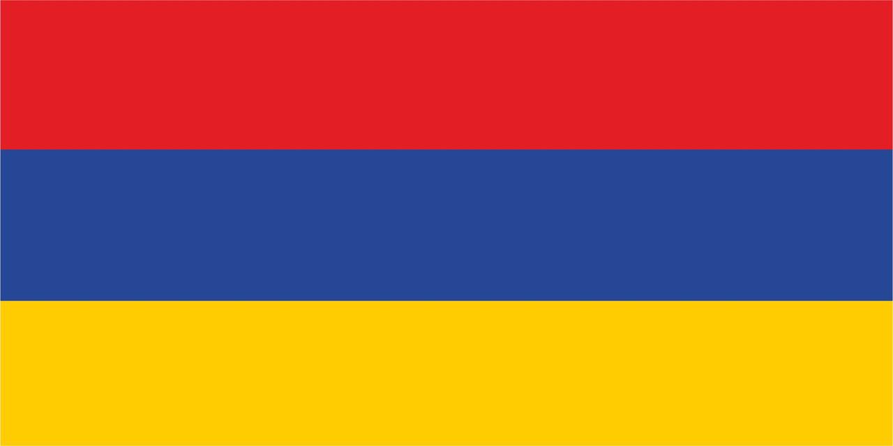 Флаг Армении размер 1 х 2 метра.