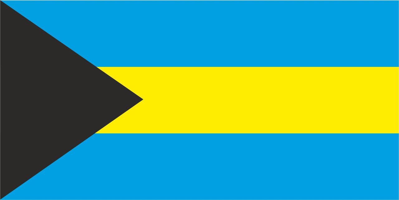 Флаг Багамских Островов размер 1 х 2 метра.