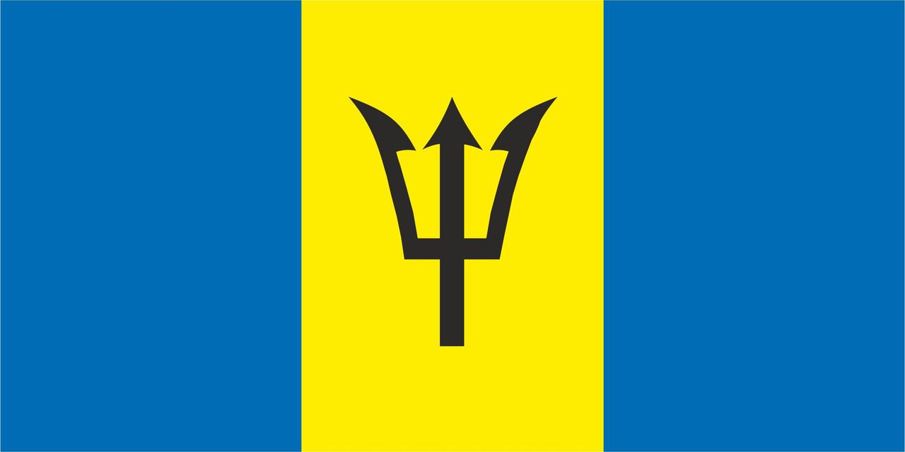 Флаг Барбадоса размер 1 х 2 метра.