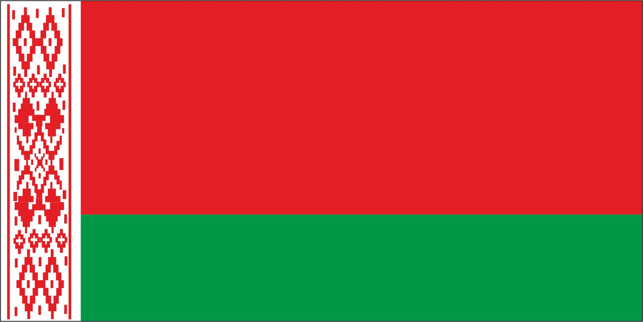 Флаг Беларуссии размер 1 х 2 метра.