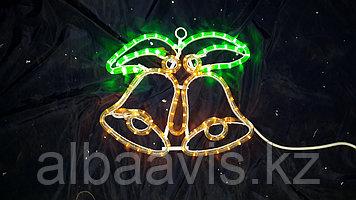 Колокольчики новогодние, колокольчик новогодний, консоли колокольчики, колокола, светящиеся