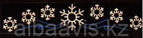 Новогодние подвесные растяжки из дюралайта на металлическом каркасе для улиц
