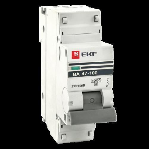 Автоматический выключатель ВА 47-100, 1P 6 А