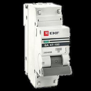 Автоматический выключатель ВА 47-100, 1P 100А (C) 10kA EKF PROxima