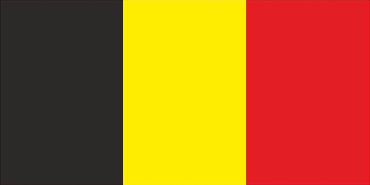 Флаг Бельгии размер 1 х 2 метра.