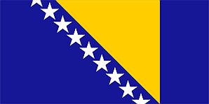 Флаг Боснии Герцеговины размер 1 х 2 метра.