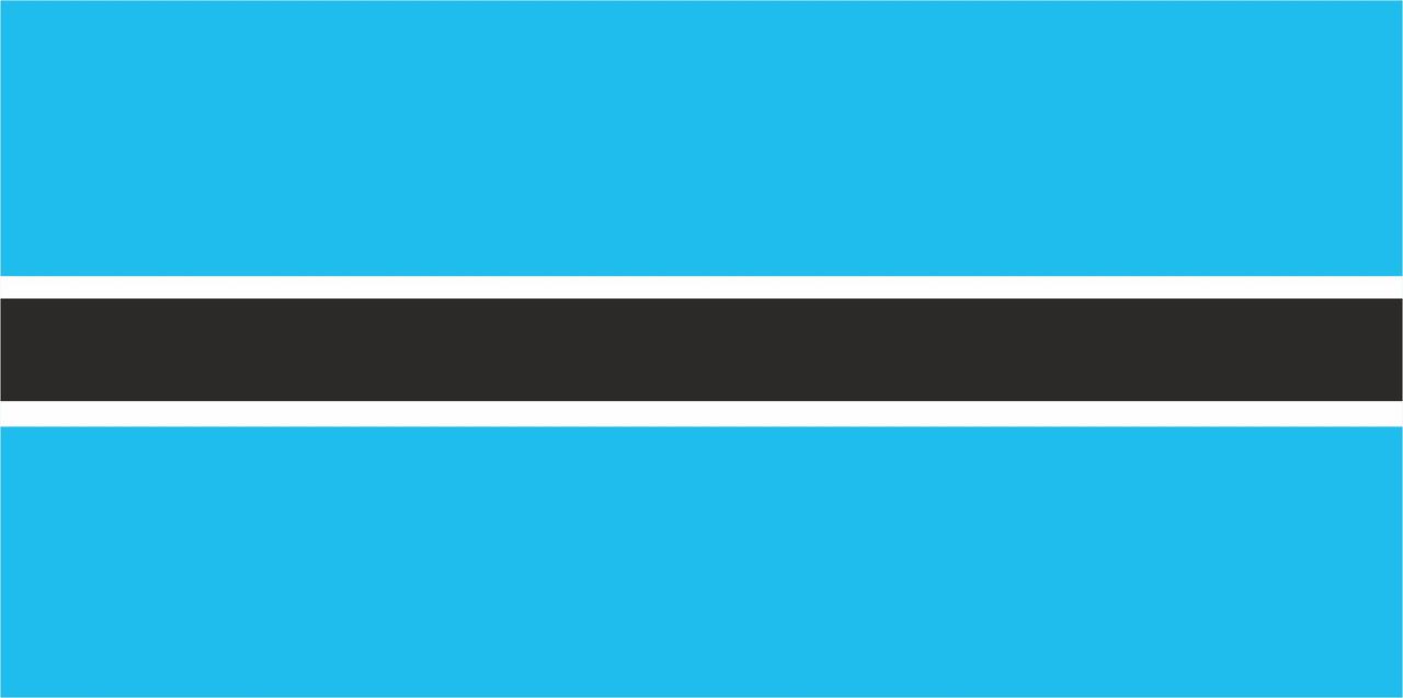 Флаг Ботсваны размер 1 х 2 метра.