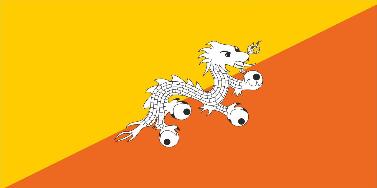 Флаг Бутана размер 1 х 2 метра.