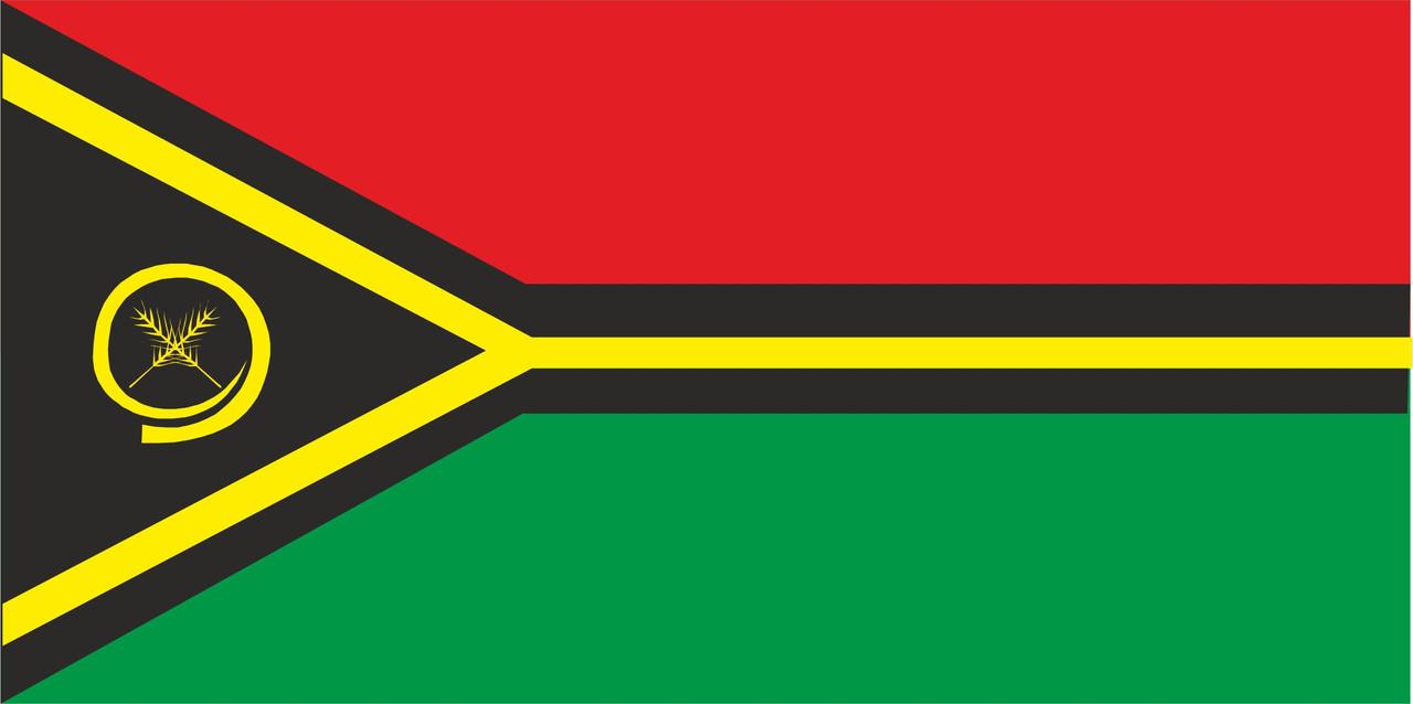 Флаг Вануату размер 1 х 2 метра.