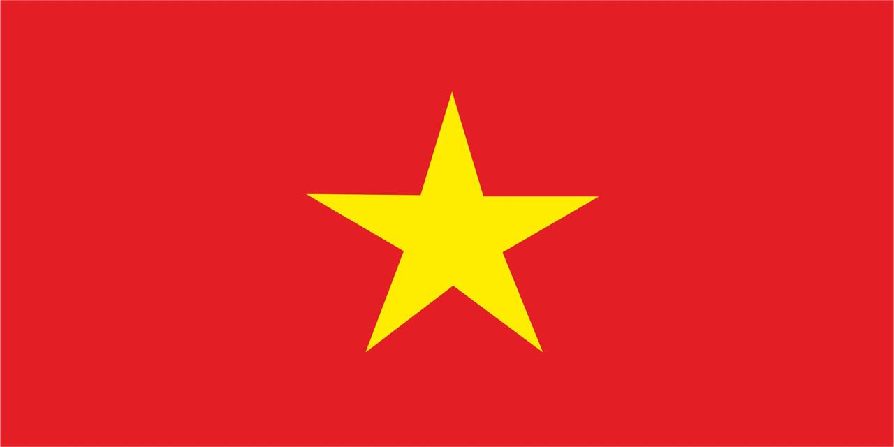 Флаг Вьетнама размер 1 х 2 метра.