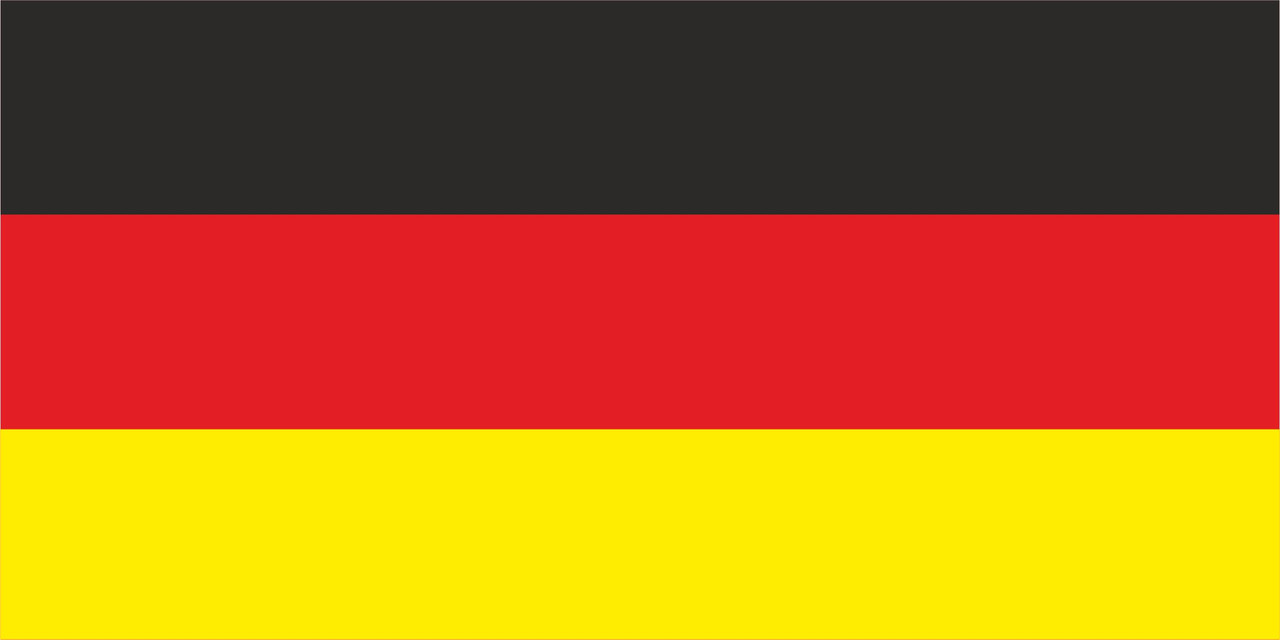 Флаг Германии размер 1 х 2 метра.