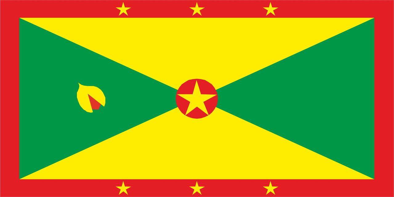 Флаг Гренады размер 1 х 2 метра.