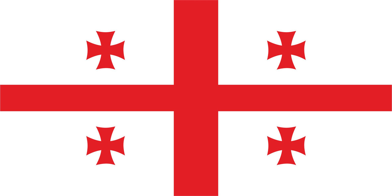 Флаг Грузии размер 1 х 2 метра.