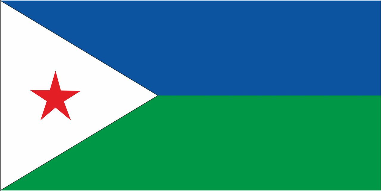 Флаг Джибути размер 1 х 2 метра.