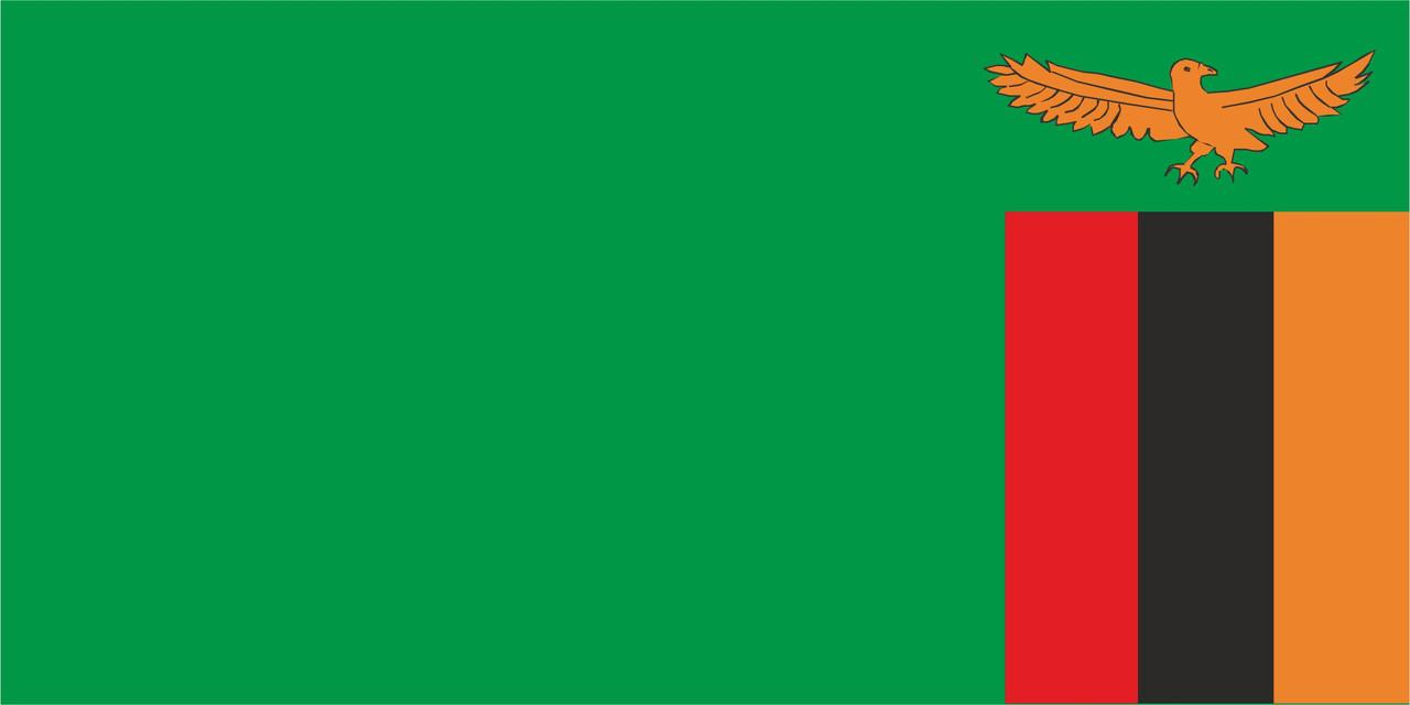 Флаг Замбия размер 1 х 2 метра.
