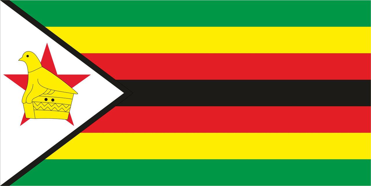 Флаг Зимбабве размер 1 х 2 метра.