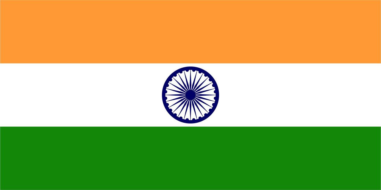 Флаг Индии размер 1 х 2 метра.