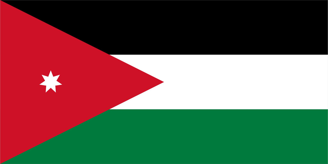 Флаг Иордании размер 1 х 2 метра.