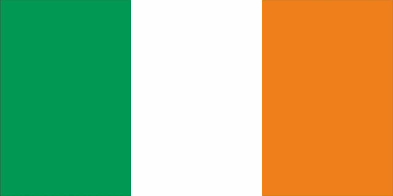 Флаг Ирландии размер 1 х 2 метра.