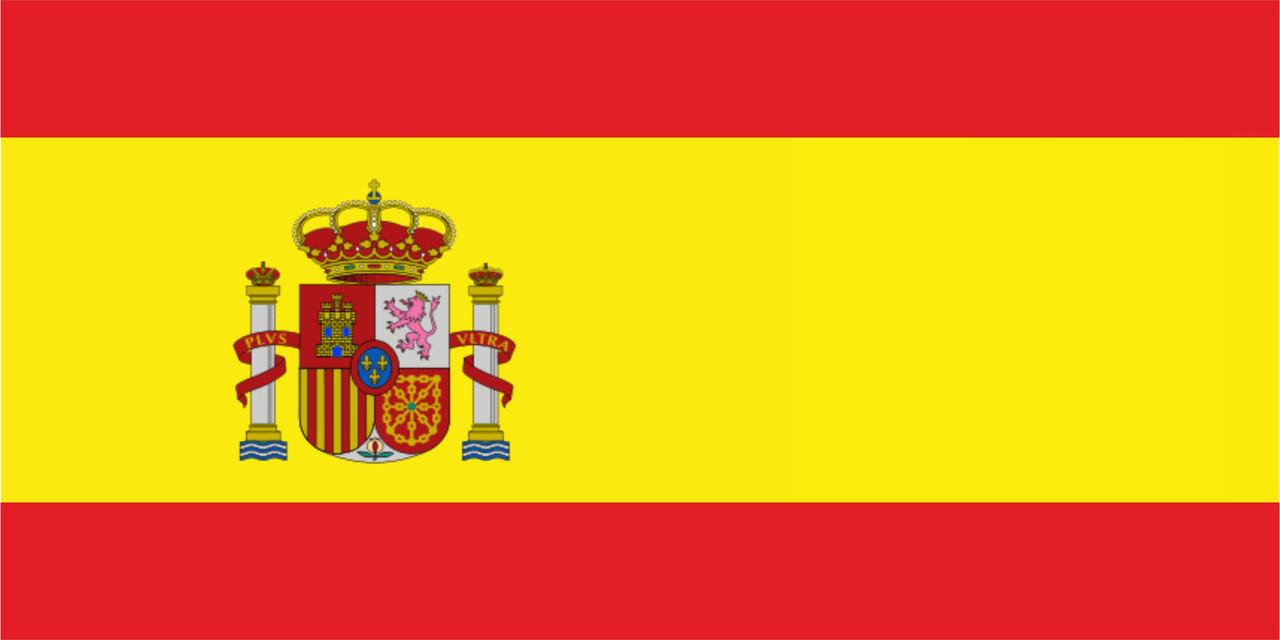 Флаг Испании размер 1 х 2 метра.