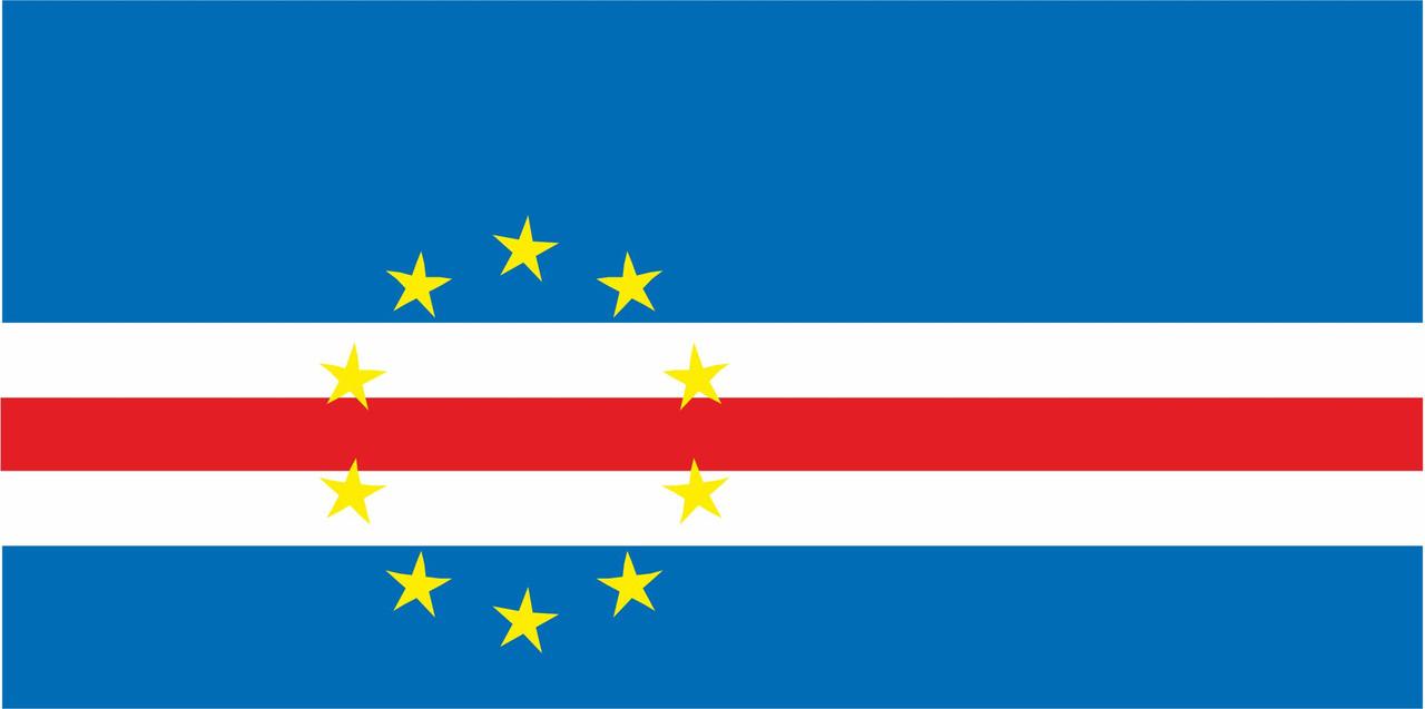 Флаг Кабо-Верде размер 1 х 2 метра.