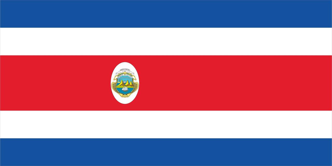 Флаг Коста-Рики размер 1 х 2 метра.
