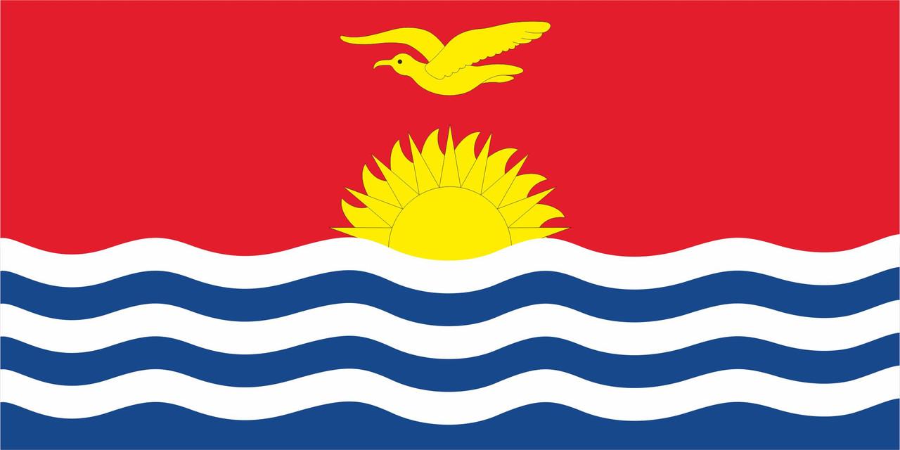 Флаг Кирибати размер 1 х 2 метра.
