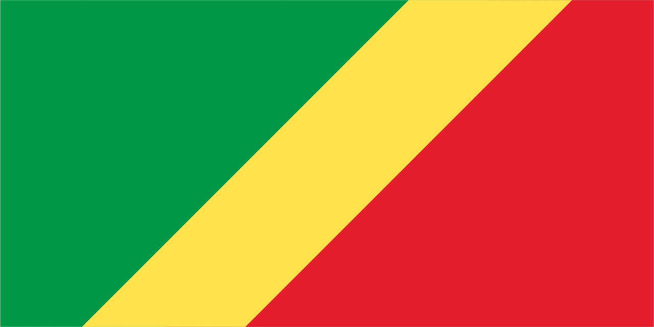 Флаг Конго Браззавиль размер 1 х 2 метра.