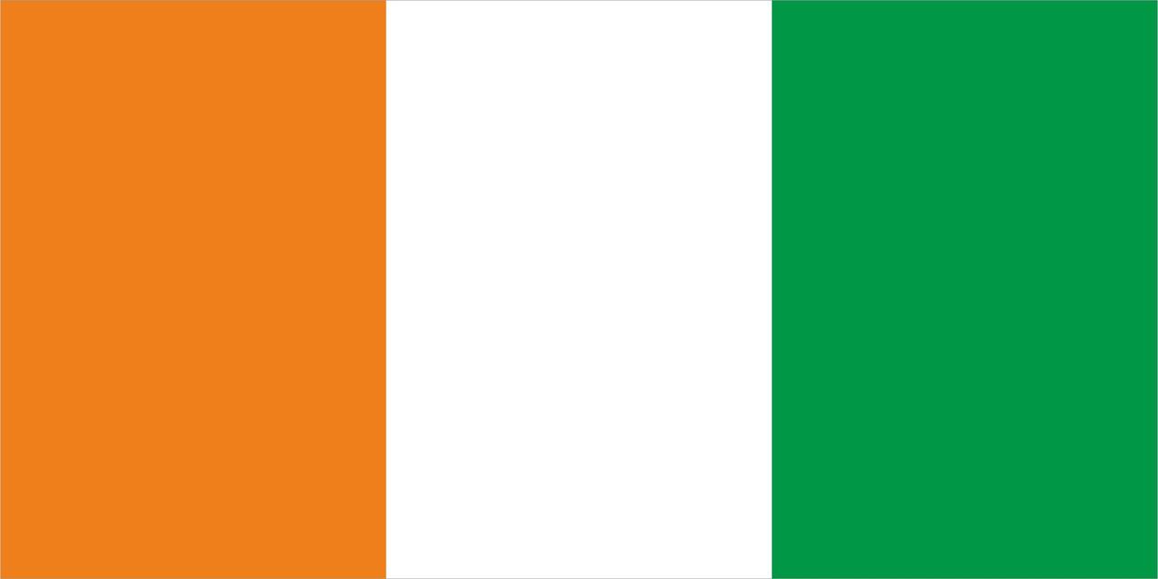Флаг Кот-Д-Ивуара размер 1 х 2 метра.
