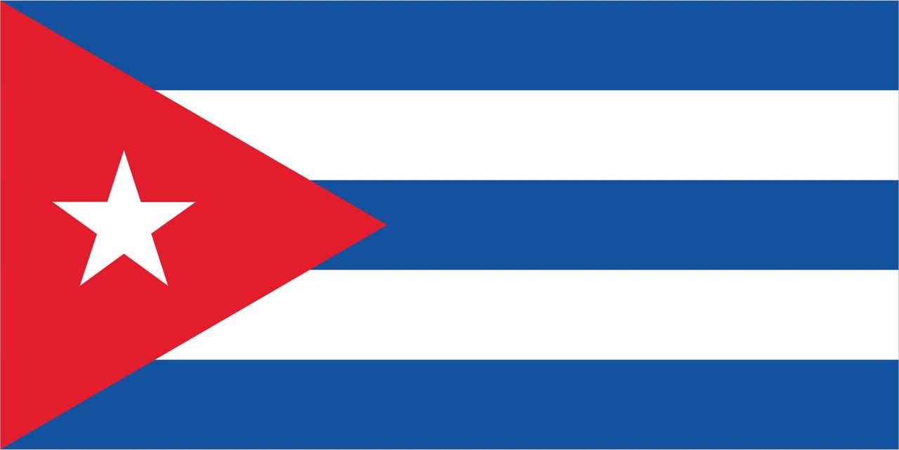 Флаг Кубы размер 1 х 2 метра.
