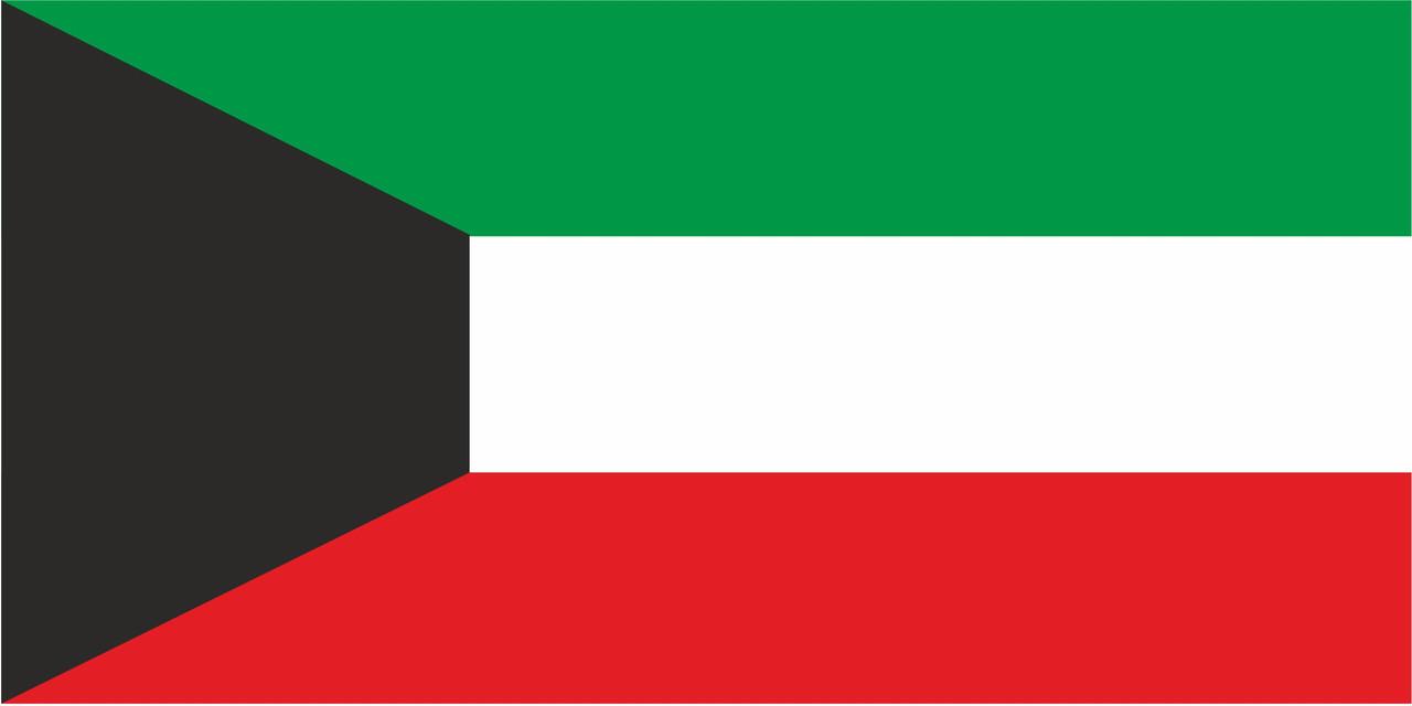 Флаг Кувейта размер 1 х 2 метра.