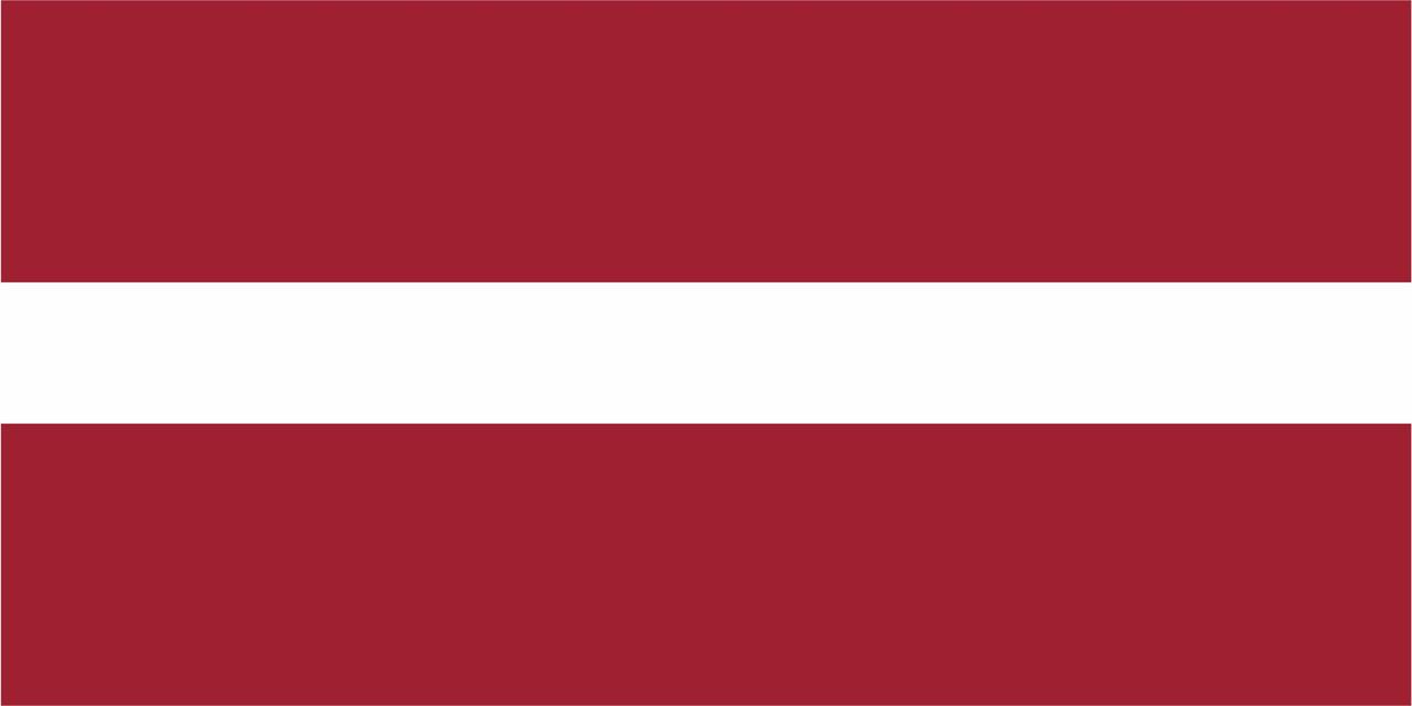 Флаг Латвии размер 1 х 2 метра.