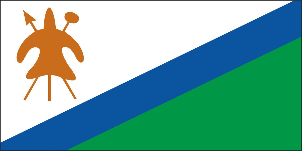Флаг Лесото размер 1 х 2 метра.