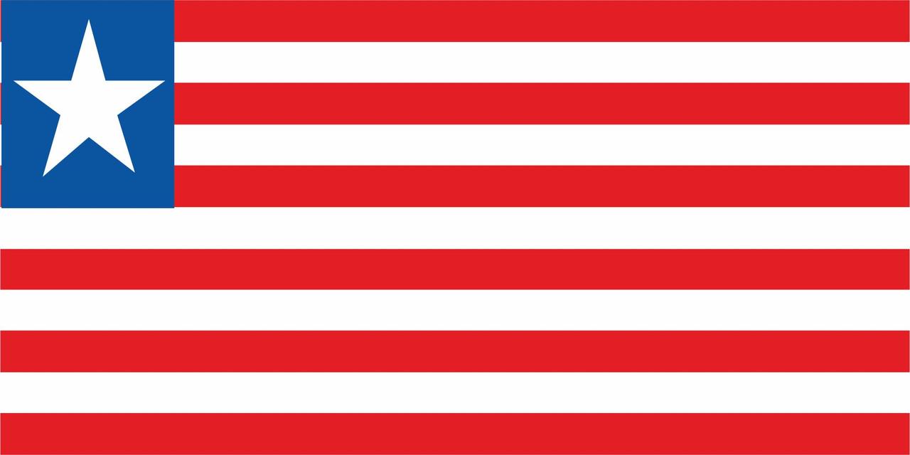 Флаг Либерии размер 1 х 2 метра.
