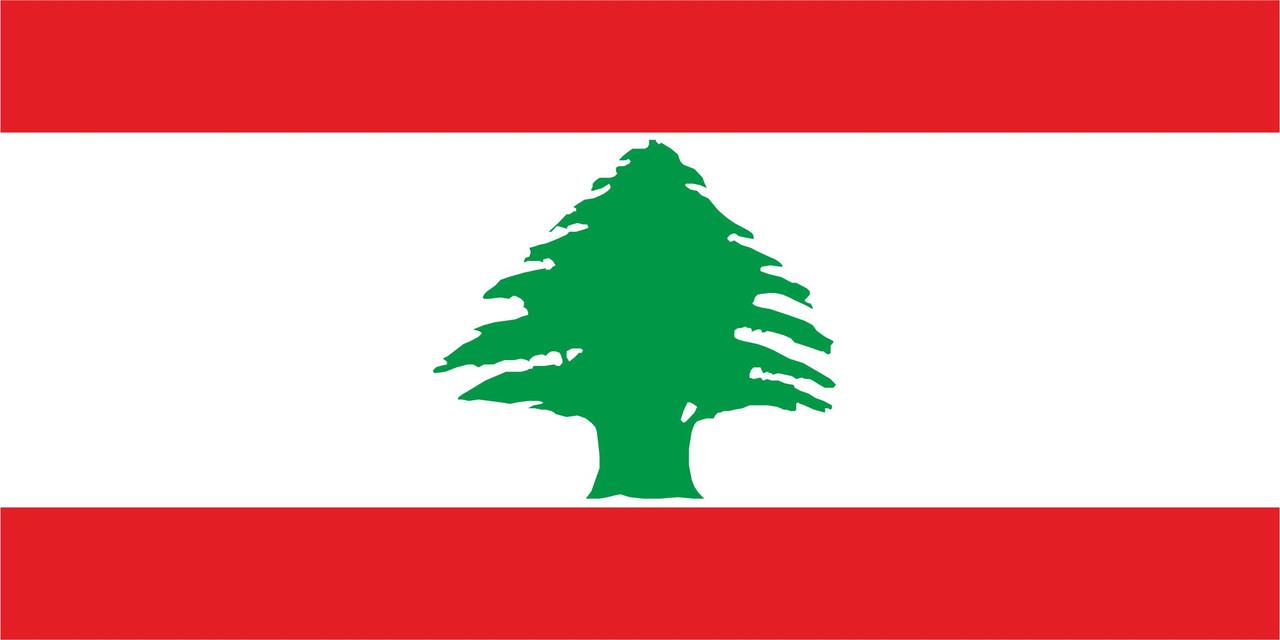 Флаг Ливана размер 1 х 2 метра.