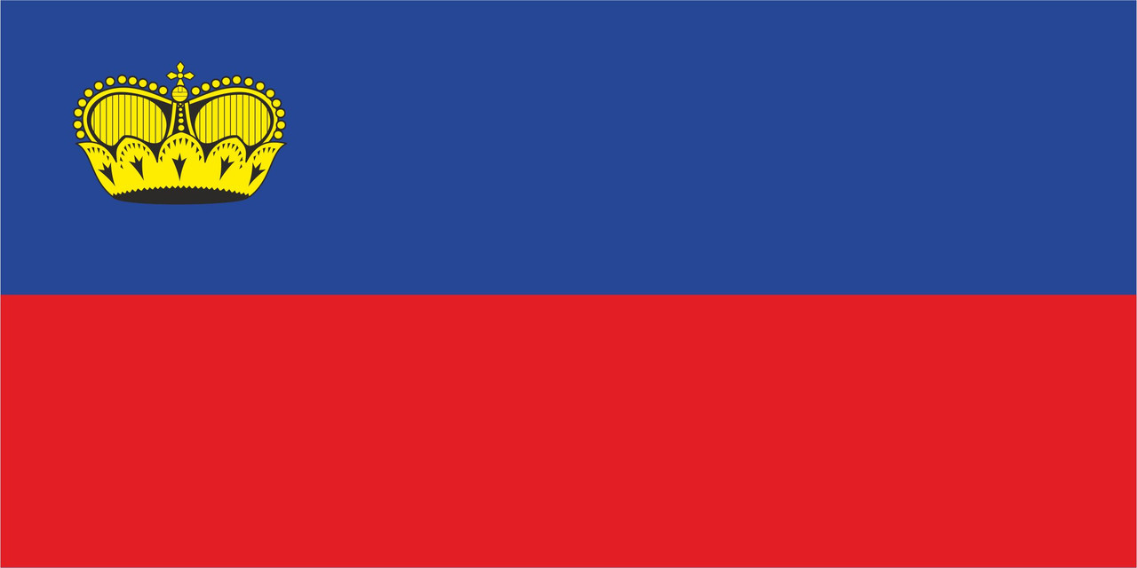Флаг Лихтенштейна размер 1 х 2 метра.