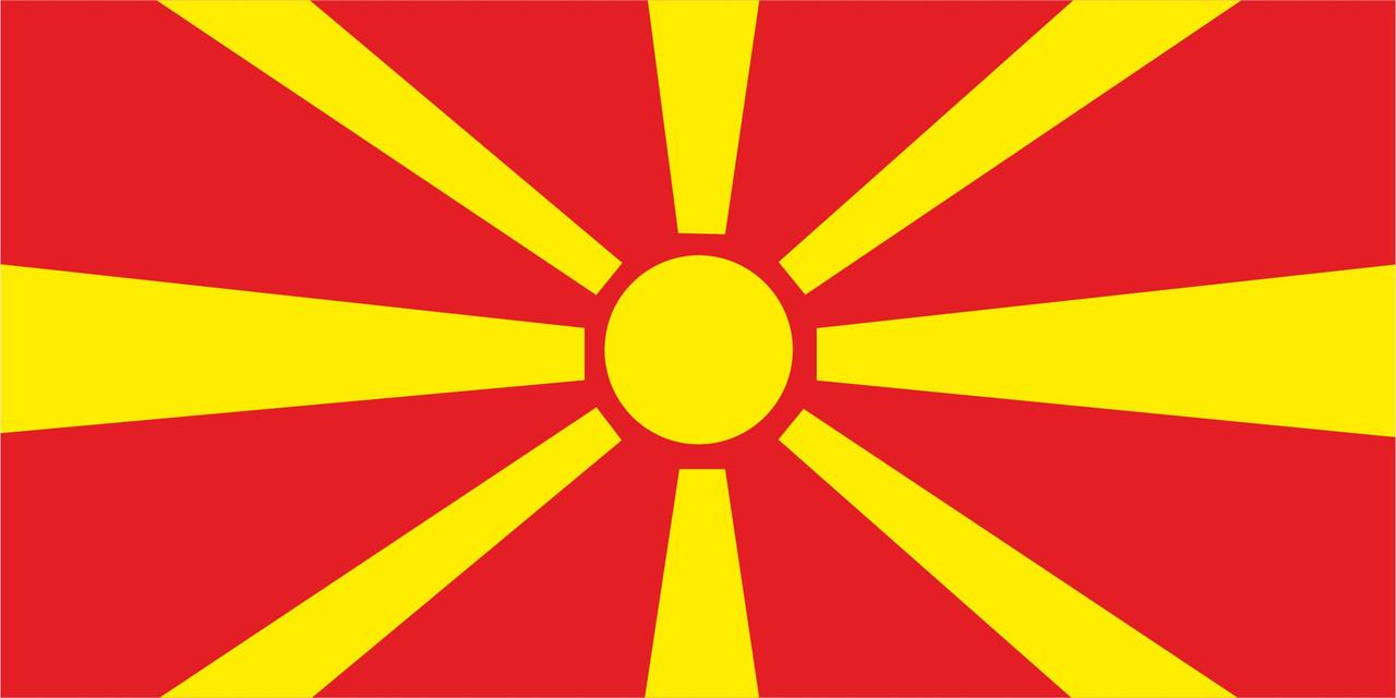 Флаг Макидонии размер 1 х 2 метра.